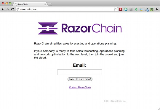 RazorChain's Coming Soon Page